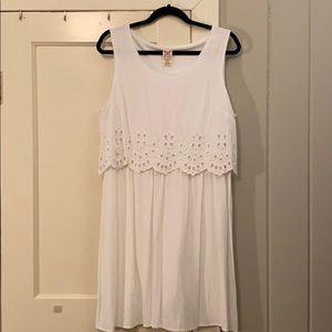 Faded Glory white cotton eyelet dress